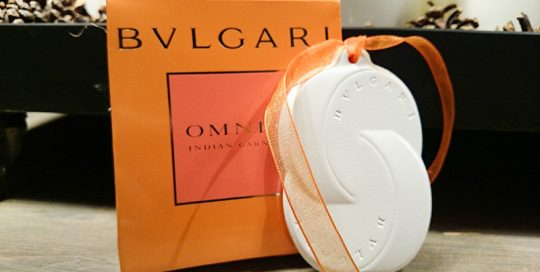 Pastilla de cerámica perfumada de Omnia de Bulgari